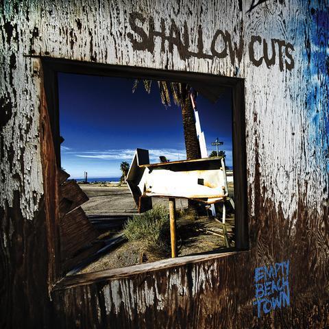 Cover SHALLOW CUTS, empty beach town