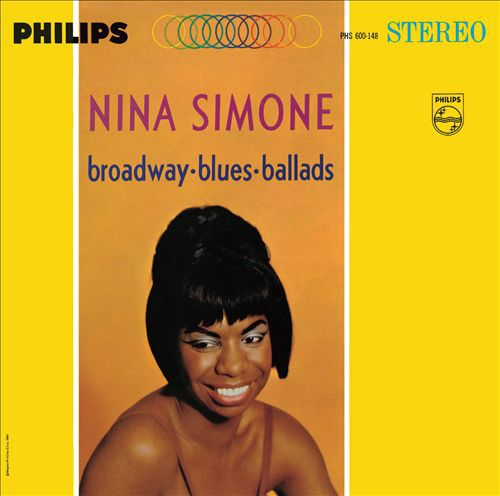 Cover NINA SIMONE, broadway blues ballads