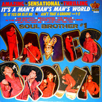 Cover JAMES BROWN, it´s a man´s man´s man´s world