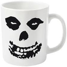 Cover MISFITS, all over skull_coffee mug white