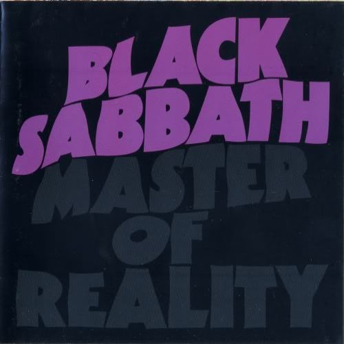 BLACK SABBATH, master of reality (green vinyl) cover