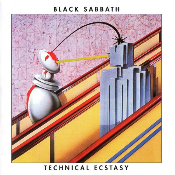 Cover BLACK SABBATH, technical ecstasy (white vinyl)
