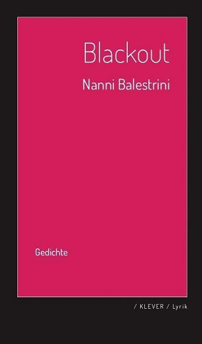 Cover NANNI BALESTRINI, blackout