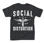 Cover SOCIAL DISTORTION, winged wheel (boy) black