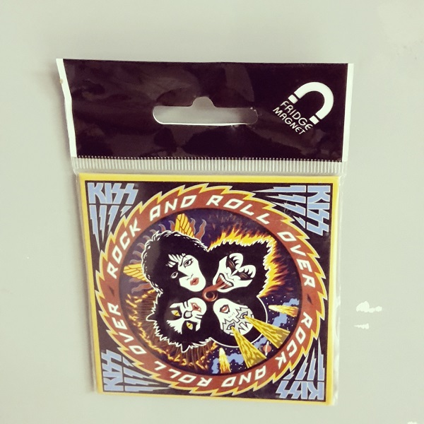 Cover KISS, rock and roll over (fridge magnet)