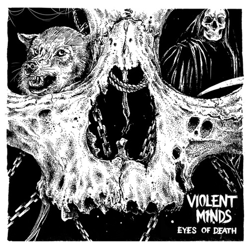 VIOLENT MINDS, eyes of death cover