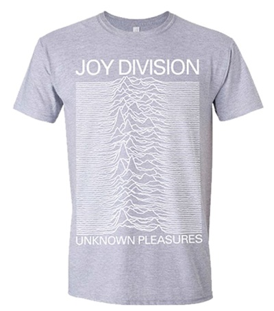 Cover JOY DIVISION, unknown pleasures (boy) grey