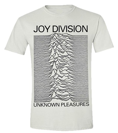 Cover JOY DIVISION, unknown pleasures (boy) white