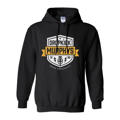 Cover DROPKICK MURPHYS, 1996 shield (boy) black hoodie