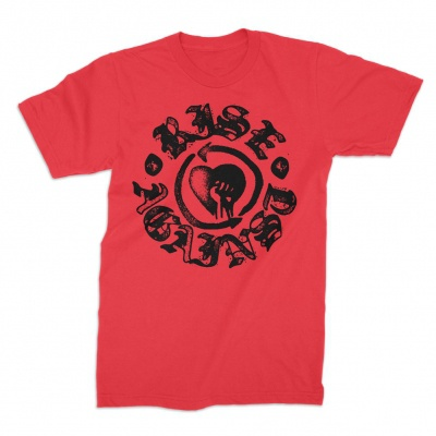 Cover RISE AGAINST, fist stamp (boy) red