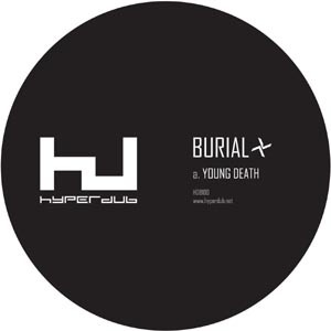 BURIAL, young death/nightmarket cover