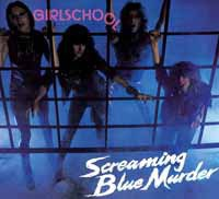 GIRLSCHOOL, screaming blue murder cover