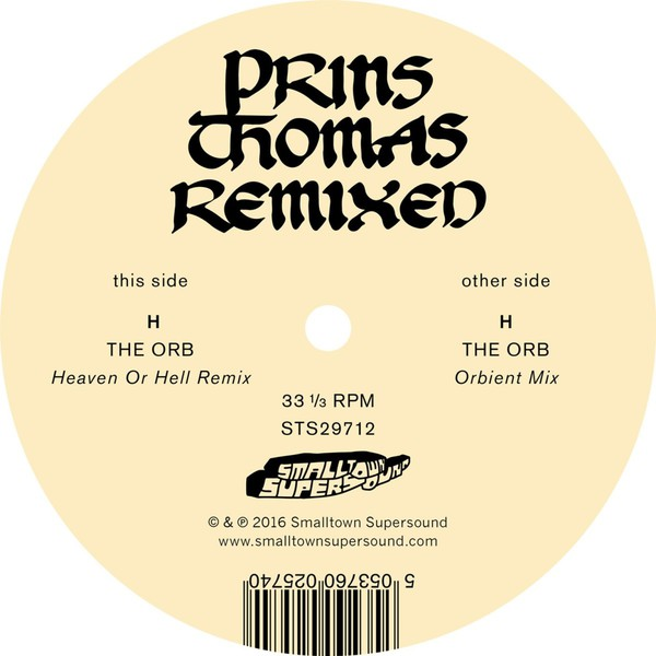 Cover PRINS THOMAS, the orb remixes