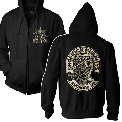 Cover DROPKICK MURPHYS, anchors up (boy) black zip-hood