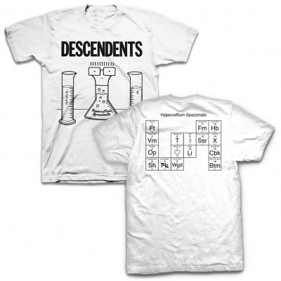 Cover DESCENDENTS, hypercaffium spazzinate (boy) white