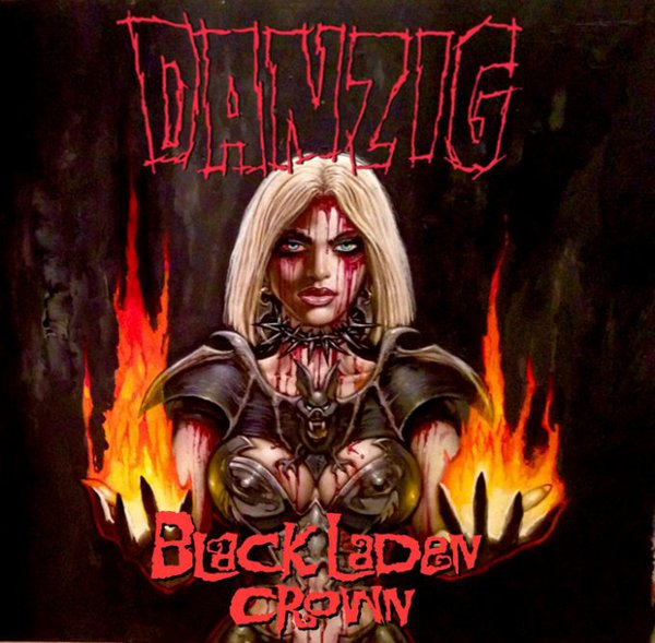 Cover DANZIG, black laden crown (orange vinyl)