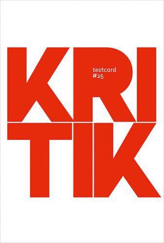TESTCARD, # 25 (kritik) cover