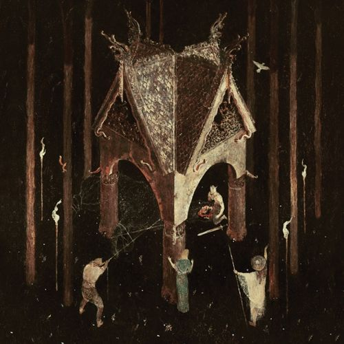 Cover WOLVES IN THE THRONE ROOM, thrice woven