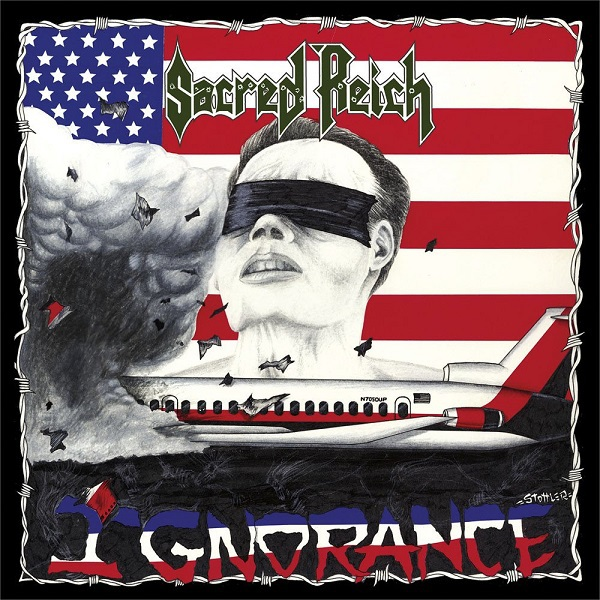 SACRED REICH, ignorance - 30th anniversary cover