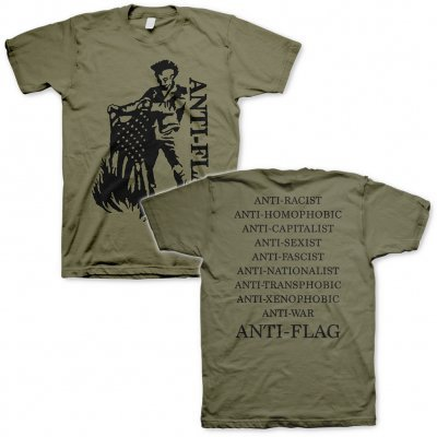 ANTI-FLAG, flag burner (boy) military green cover