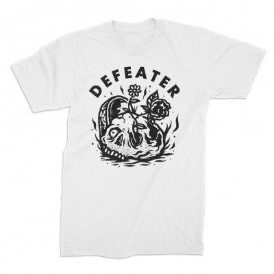 Cover DEFEATER, overgrown skull (boy) white