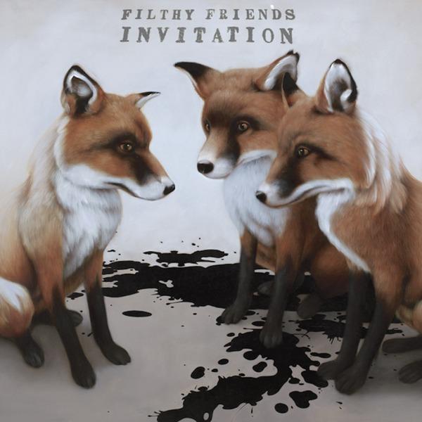 FILTHY FRIENDS, invitation cover