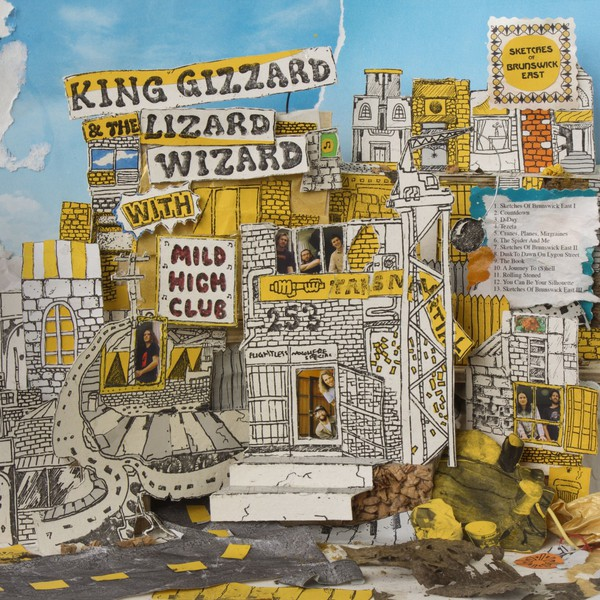 Cover KING GIZZARD & THE LIZARD WIZARD, sketches of brunswick east