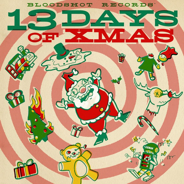 Cover V/A, bloodshot records 13 days of xmas
