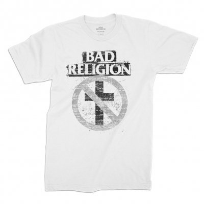 Cover BAD RELIGION, typewriter crossbuster (boy) white