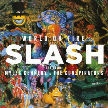 SLASH, world on fire cover