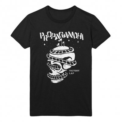 PROPAGANDHI, rollercoaster skull (boy) black cover
