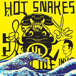 HOT SNAKES, suicide invoice (neon yellow colored vinyl) cover