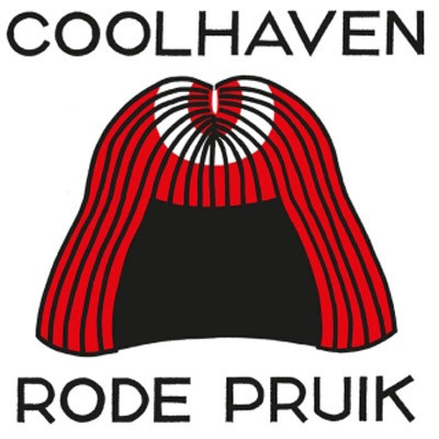 COOLHAVEN, rode pruik cover