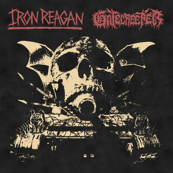 IRON REAGAN / GATECREEPER, split cover