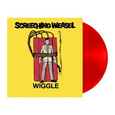 SCREECHING WEASEL, wiggle (red vinyl) cover