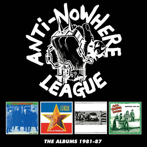 Cover ANTI-NOWHERE LEAGUE, the albums 1981-87