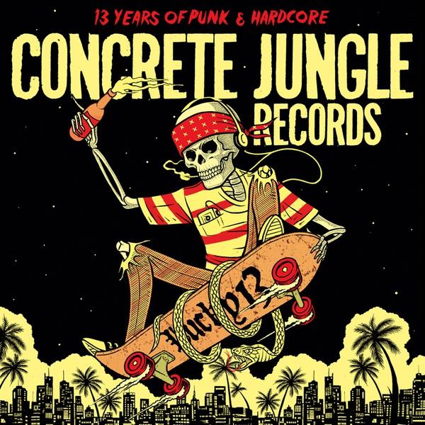 V/A, concrete jungle records - lucky 13 cover