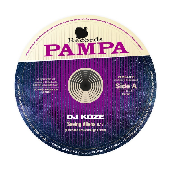 Cover DJ KOZE, seeing aliens ep