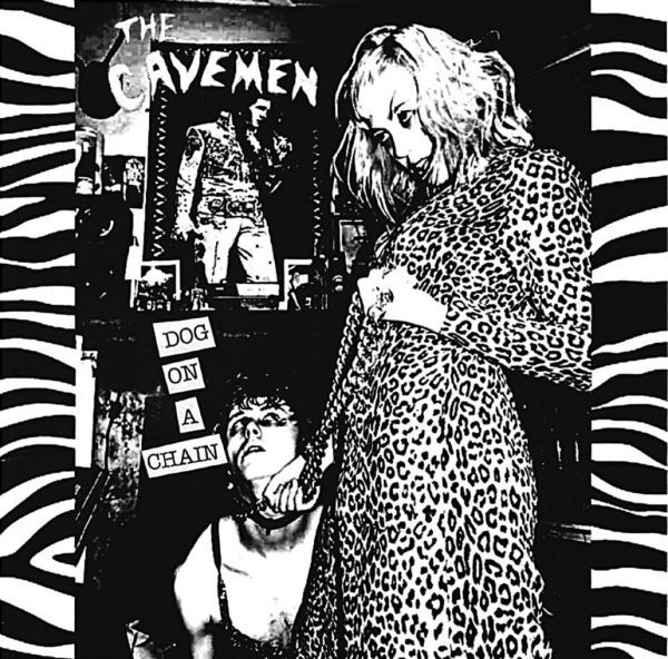 Cover CAVEMEN, dog on a chain