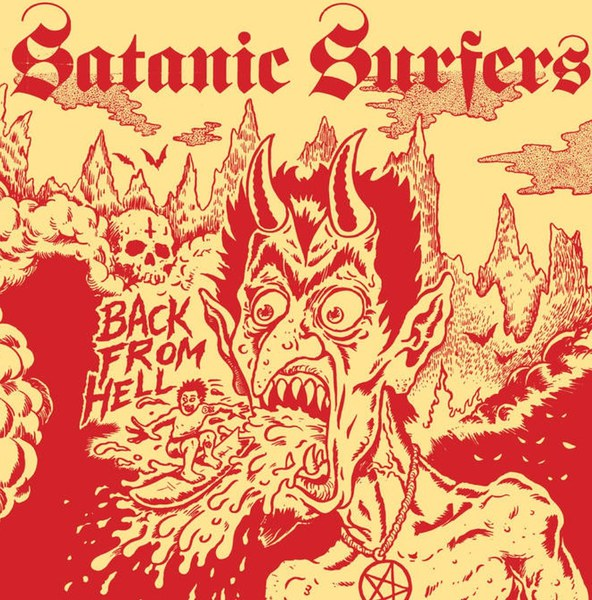 SATANIC SURFERS, back from hell cover