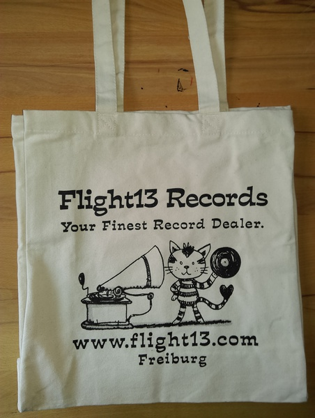 Cover FLIGHT 13, tote bag_vinyl cat natur
