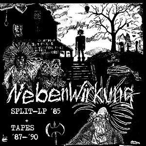 NEBENWIRKUNG, split-LP ´85 + tapes 87-90 cover
