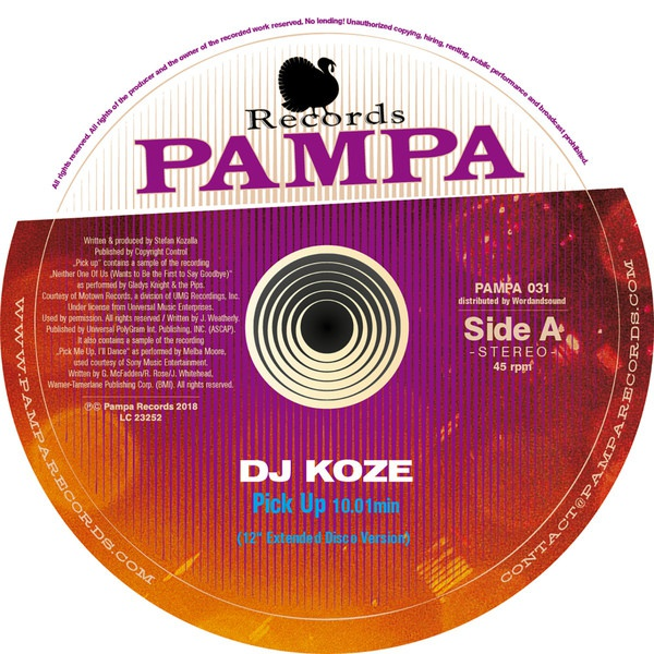 Cover DJ KOZE, pick up