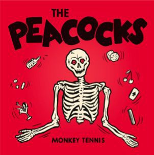 PEACOCKS, monkey tennis cover