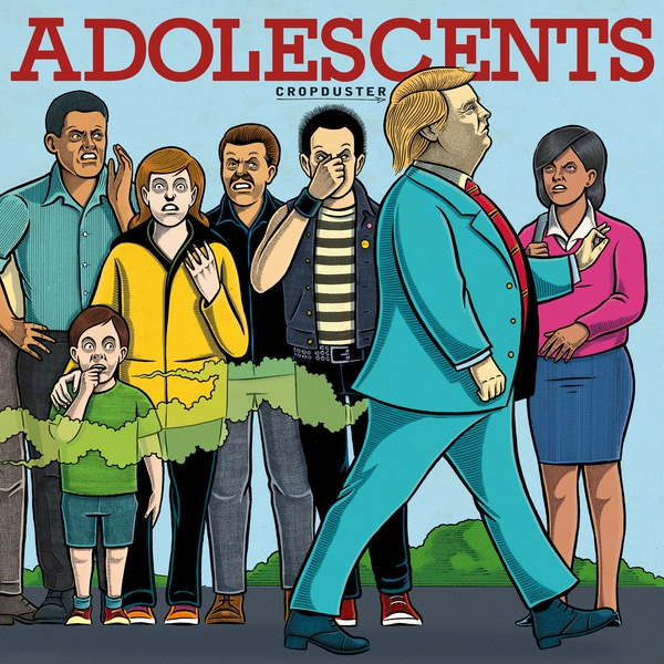 Cover ADOLESCENTS, cropduster (blue vinyl)