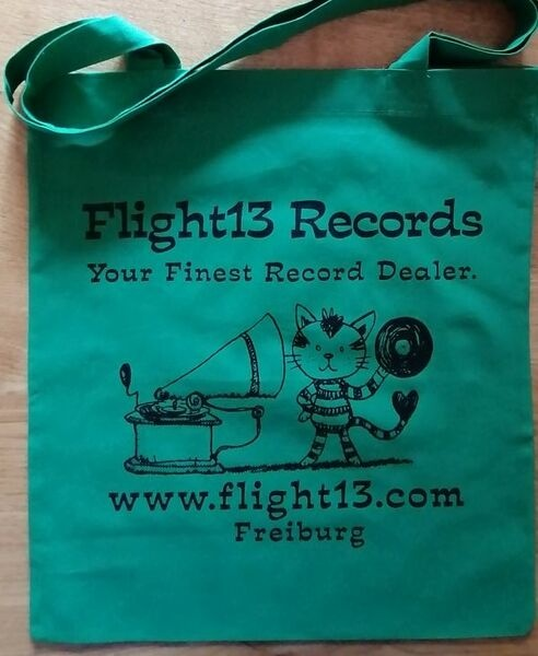 FLIGHT 13, stofftasche_vinyl cat_green cover