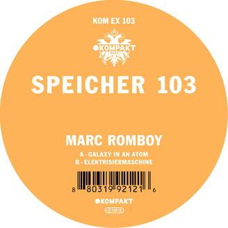 MARC ROMBOY, speicher 103 cover