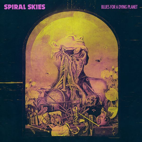 Cover SPIRAL SKIES, blues for a dying planet