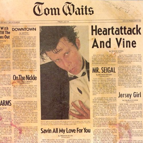 Cover TOM WAITS, heartattack and vine
