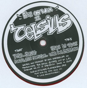 Cover CELSIUS, dubcore vol. 13 - fire on wax II